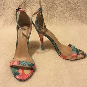 Call it spring floral heels